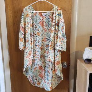 Lularoe colerful kimono coverup cardigan